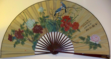Lovely fan is part of the decor inside the Chopstick House.
